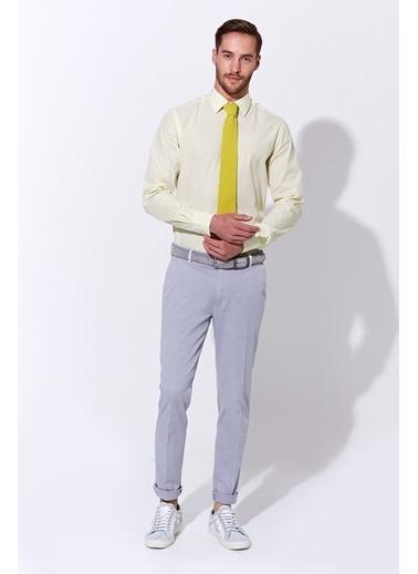 Hemington Sarı Çizgili Pamuk Gömlek Sarı